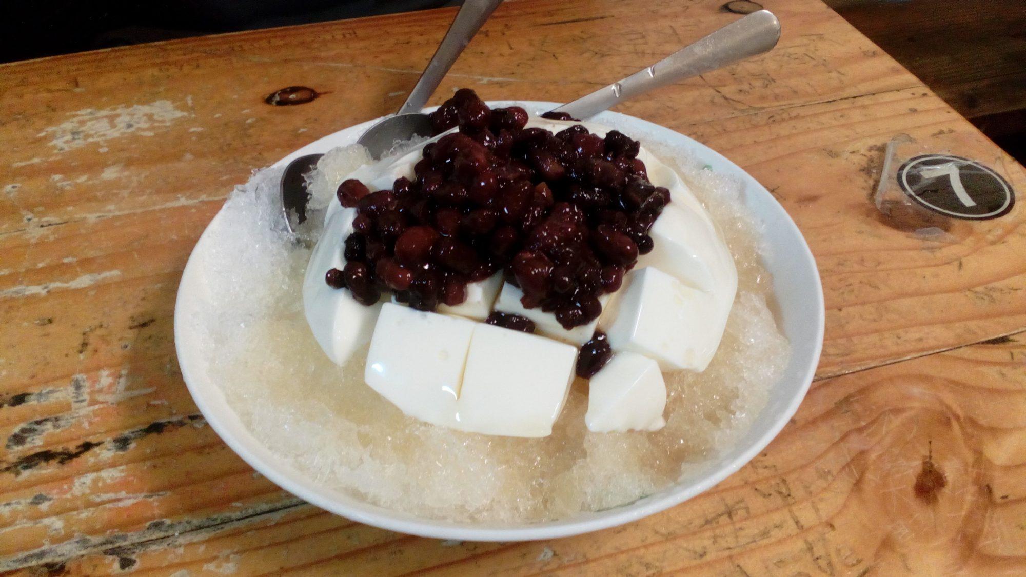 かき氷豆腐