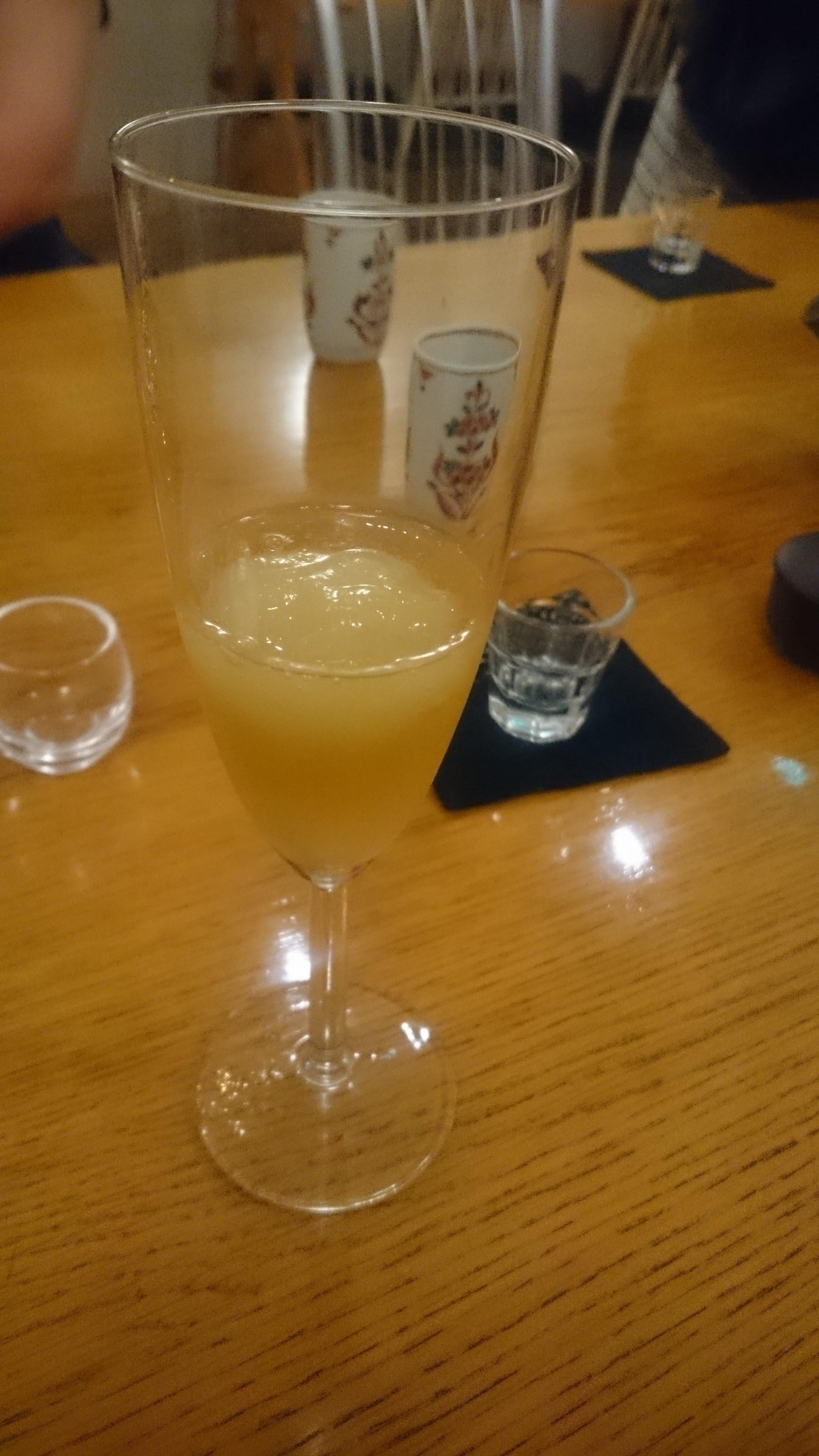 桃のソルベ
